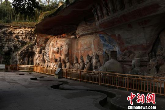 世界文化遗产重庆大足石刻卧佛一期修复通过竣工验收