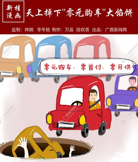 """【新桂漫画】天上掉下""""零元购车""""大馅饼"""