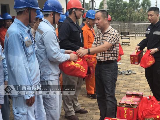 柳城县总工会为一线员工送清凉(图)