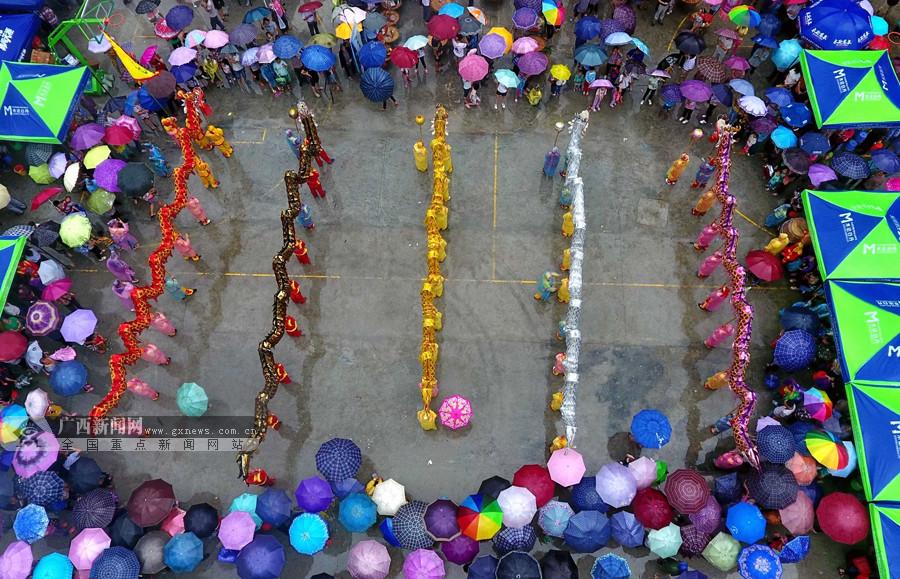 高清:环江毛南族群众欢度传统节日分龙节