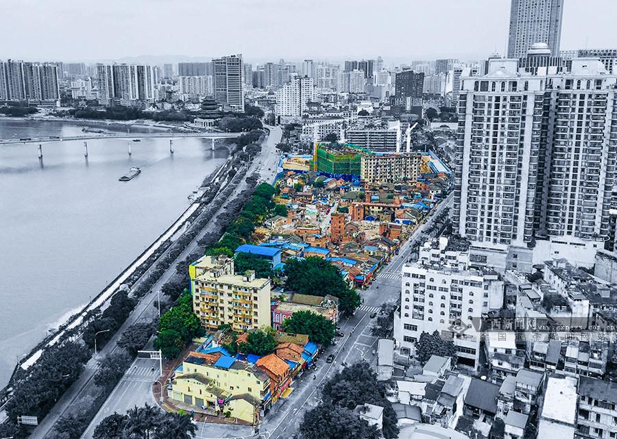 """高清组图:邕城老街拆迁殆尽 闹市""""孤岛""""人去楼空"""