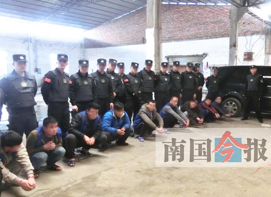 6月27日焦点图:柳州警方出动无人机 端掉大型制毒工厂