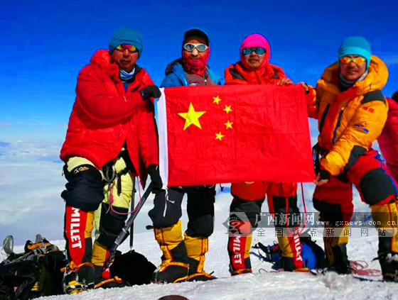 广西登山健将刘政成功登顶北美洲最高峰麦金利山