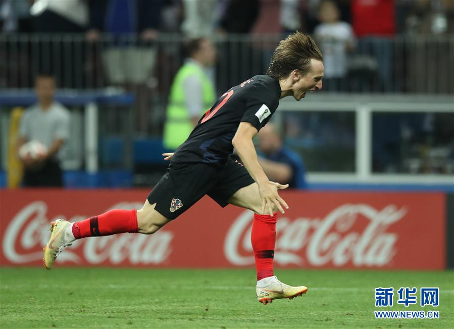 高清:克罗地亚队淘汰英格兰队 首进决赛