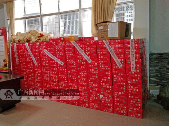环江销毁2.6万罐假冒品牌饮料 货值近10万元(图)