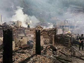 痛心!龙胜白面瑶寨凌晨突发大火丨是首批中国少数民族特色村寨