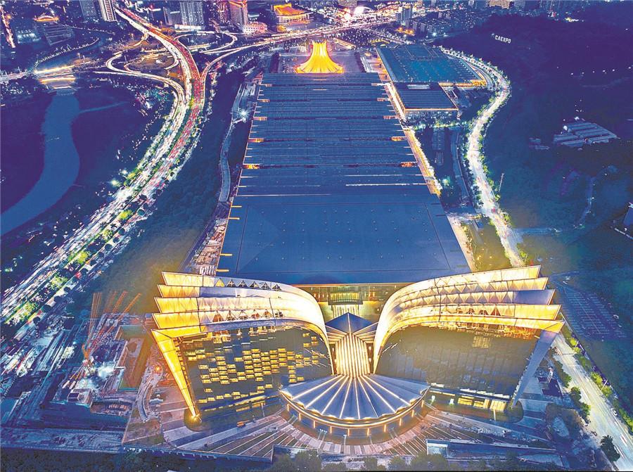 8月4日焦点图:双翼腾飞 南宁国际会展中心展新颜