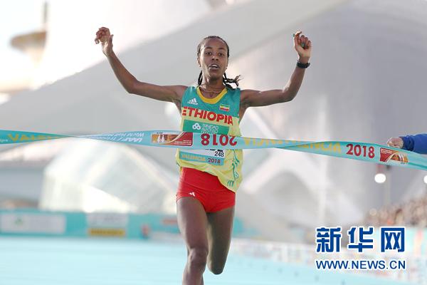 1小时06分11秒!这是新的女子半程马拉松世界纪录