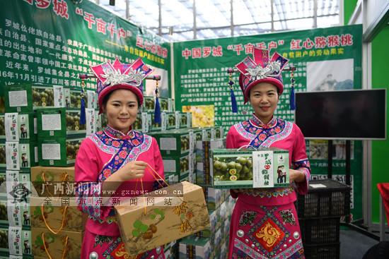 """广西罗城红心猕猴桃走俏深圳""""绿博会""""(组图)"""