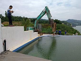 柳州两处违建农庄被拆 其中一家投资超千万元(图)