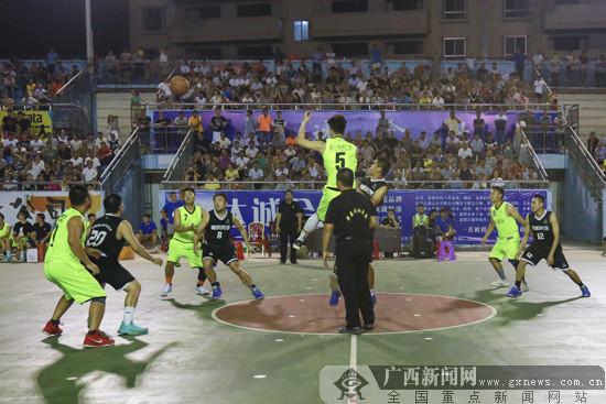 第十届广西体育节(富川)达成会计杯篮球赛收官