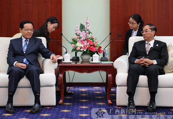 陈武会见缅甸副总统吴敏瑞