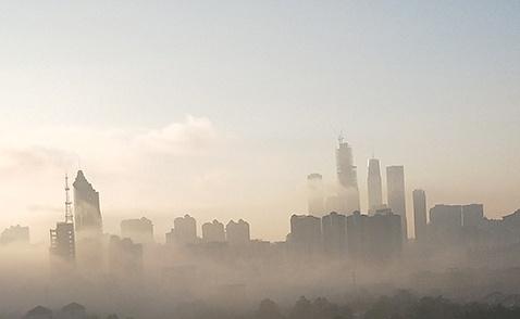 """南宁现""""辐射雾""""景观 云雾缭绕宛如仙境(组图)"""