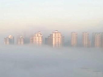 """南宁现""""辐射雾""""景观 云雾缭绕宛如仙境"""