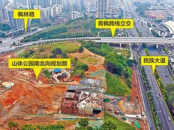 10月12日焦點圖:南寧楓林路去民族大道將更便捷