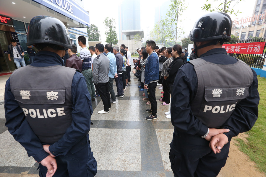 15日焦点:南宁破获特大传销案 查获93名传销人员