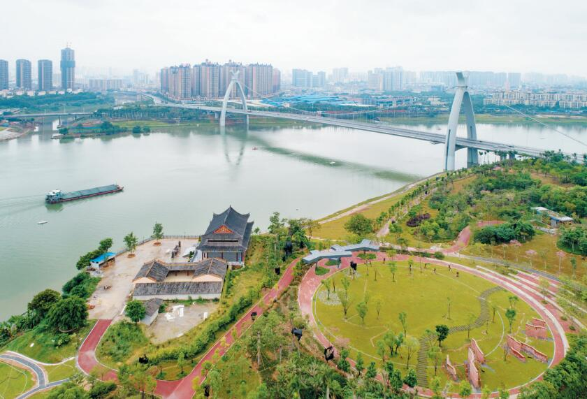 高清图集:水清岸绿景色新 百里邕江诗意美