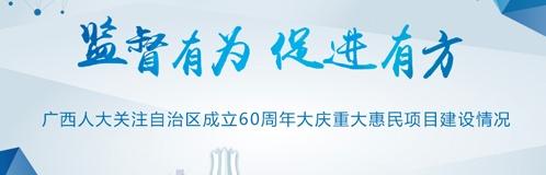 监督有为 促进有方 广西人大关注自治区成立60周年大庆重大惠民项目建设情况