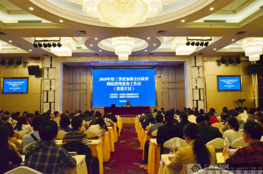 2018年第三季度加强全区政府网站管理业务工作会(贵港片区)召开