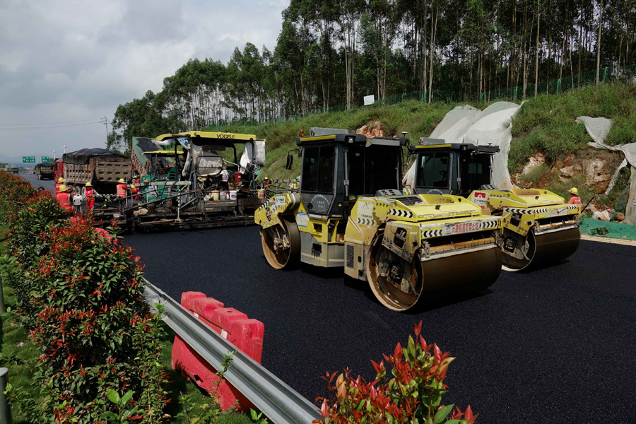 吴大高速加快施工 预计11月20日建成通车(组图)