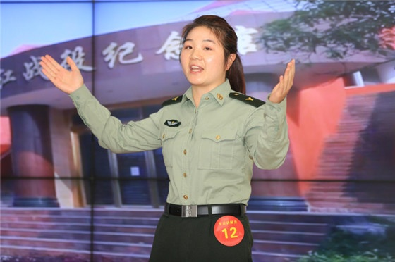 专业讲解员组二等奖选手赵佳丽