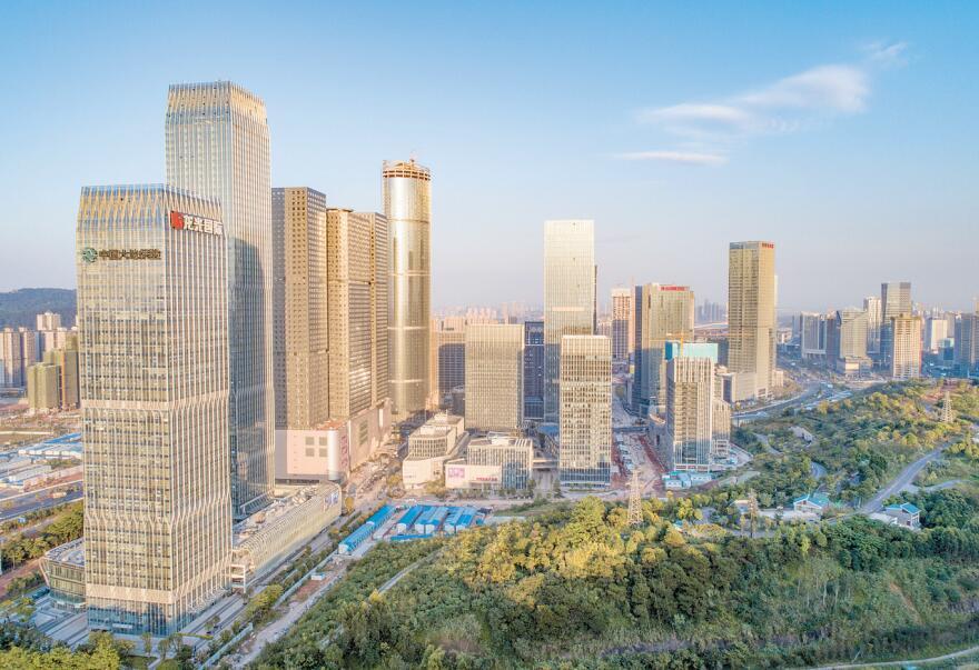 高清:南宁市五象新区化茧成蝶 魅力新城宜居宜业