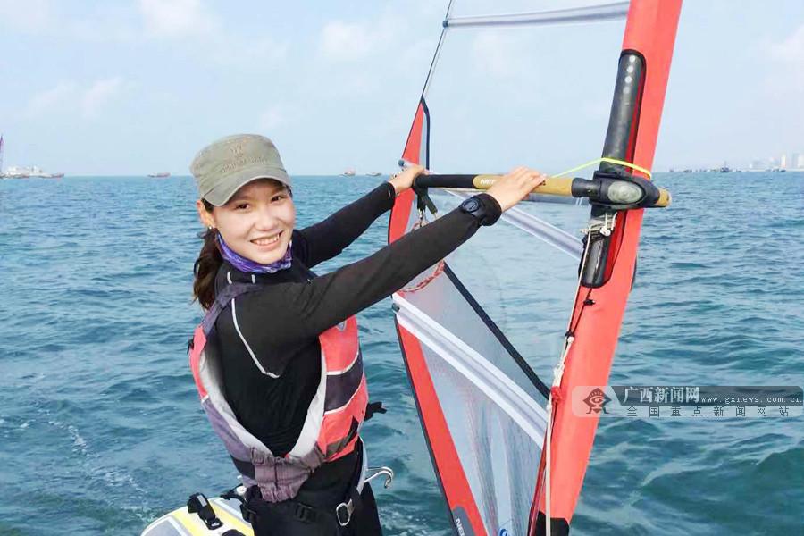广西妹罗淦2018全国青年帆板锦标赛上收获1金2银