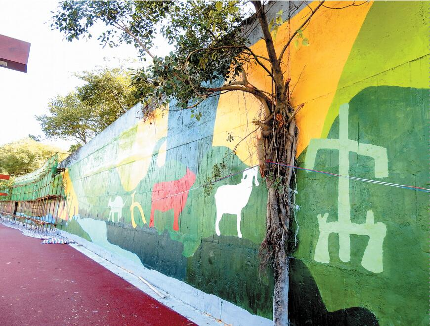广西单体最长最大墙绘将现邕江南岸 展现南宁新貌