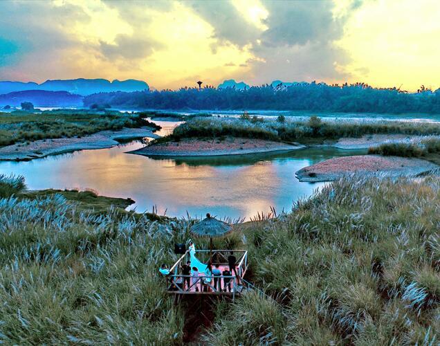 高清:柳州近郊心灵栖息地蚂拐岛 景色如梦如幻