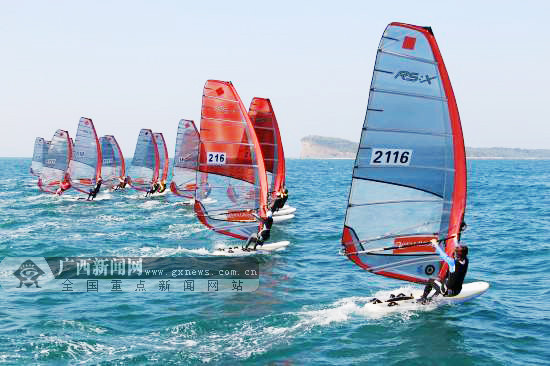 广西帆板队收获2018年全国帆板冠军赛2枚银牌