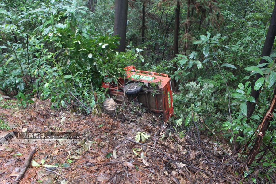 骑电动三轮车不慎翻下山坡 桂林一男子被救起送医