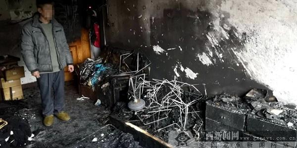 桂林临桂一农宅突发大火 2名小孩不幸身亡(组图)