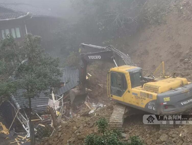 广西龙脊景区发生山体滑坡 被埋女子身亡(附视频)