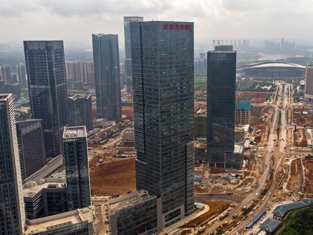 1月17日焦点:南宁五象新区总部基地施工热火朝天