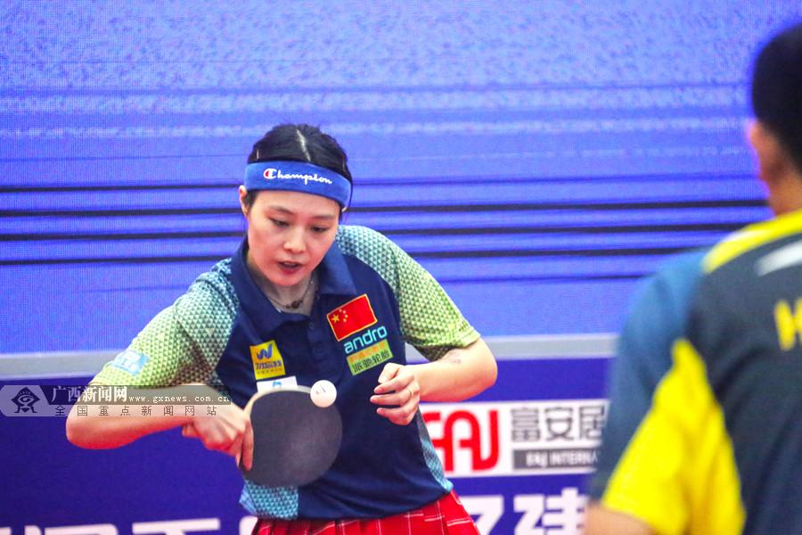 中国砂乒队在邕备战世锦赛 决出2019中国砂乒球王