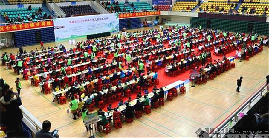 玉林市2019新春少儿围棋赛开赛:1250人参赛创新高