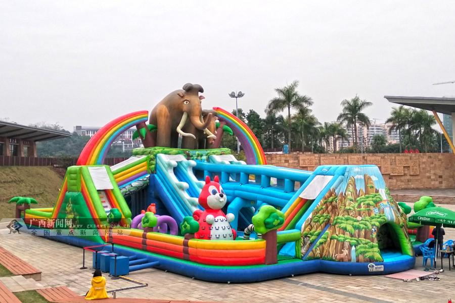 春节攻略:南宁李宁体育园七大佩奇主题项目免费玩
