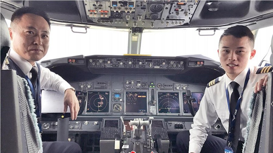 家是共同飞行的方向 父子飞行员坚守春运保障一线