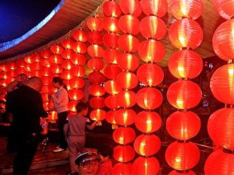 2月5日焦点图:南宁街头巷尾张灯结彩 暖意融融