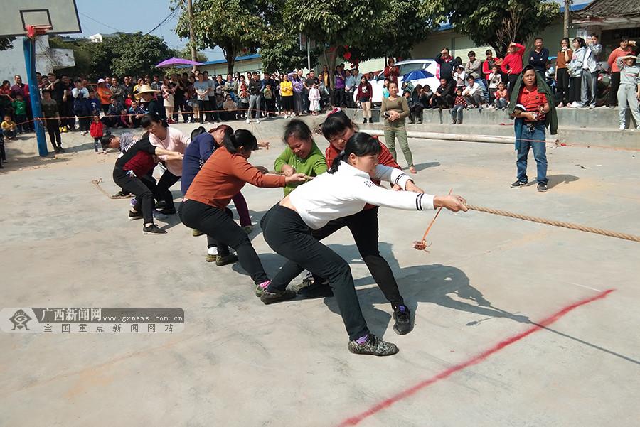 宁明乡村举办丰富多彩文体活动欢度春节