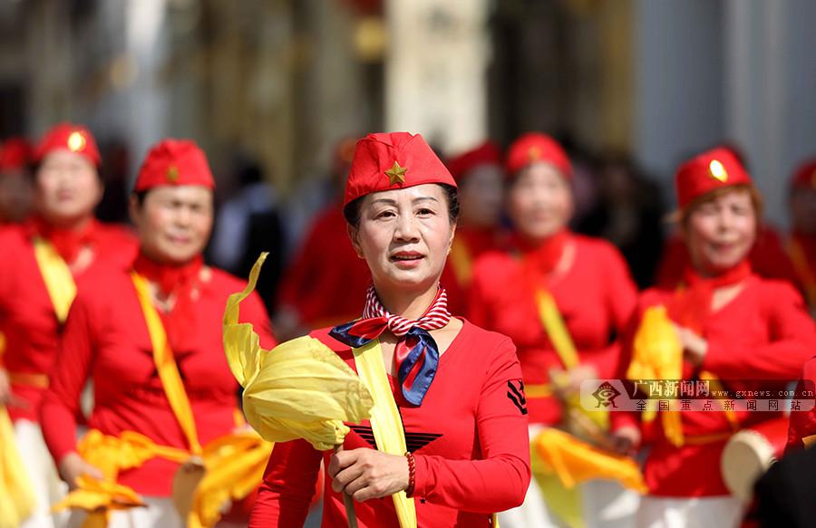高清组图:融安传统文化展演庆新春