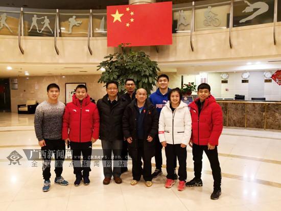 陈卫慰问春节在京训练的国家队广西摔跤体育人才