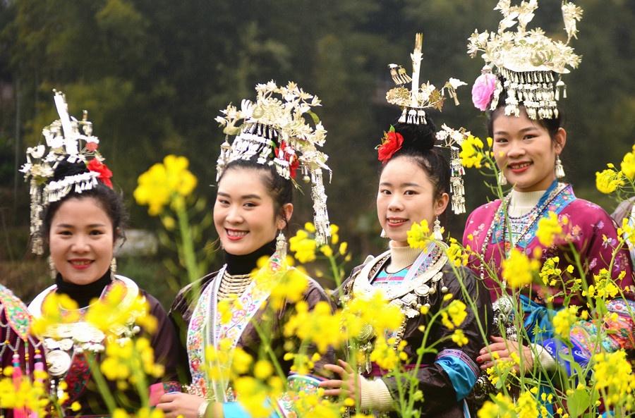 【高清组图】广西三江:笙歌震天闹新春