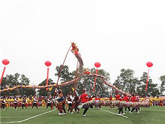 高清:龙腾狮跃庆佳节 26支龙狮队伍舞动瑶乡富川