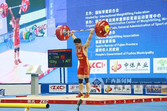 广西运动员韦胤廷斩获东京奥运会举重资格赛3金