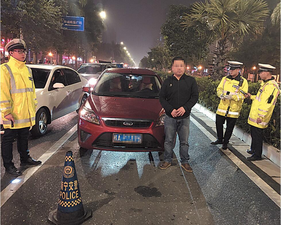 """广西开展""""霹雳行动"""" 重点交通违法行为一律拘留"""