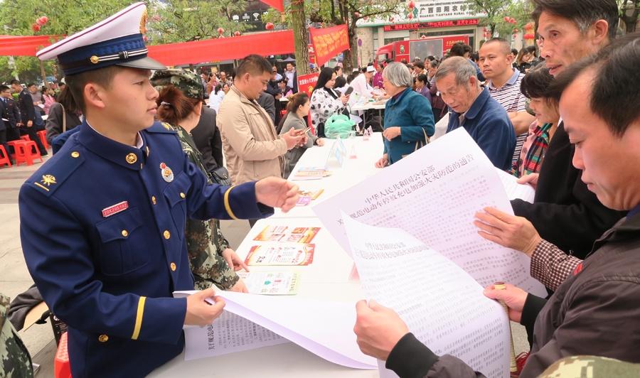 田阳开展消防安全知识宣讲活动受群众欢迎(图)