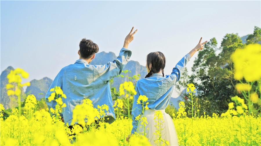 高清:烟花三月到旧州鹅泉开启一场花海美拍之旅
