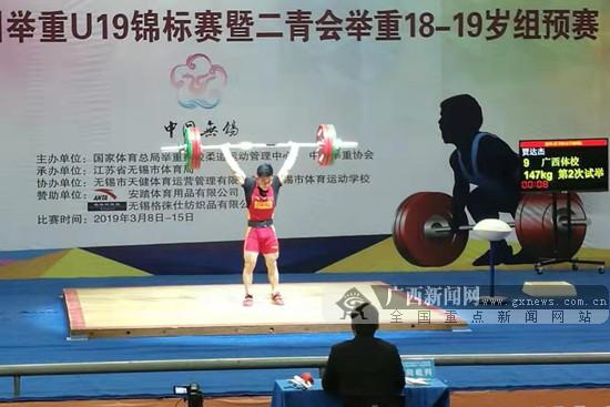 广西体校4名运动员获二青会男子举重U19决赛资格