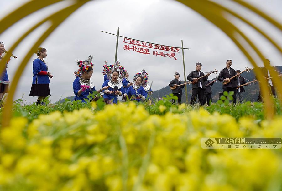 【高清组图】广西三江:以花为媒展风情